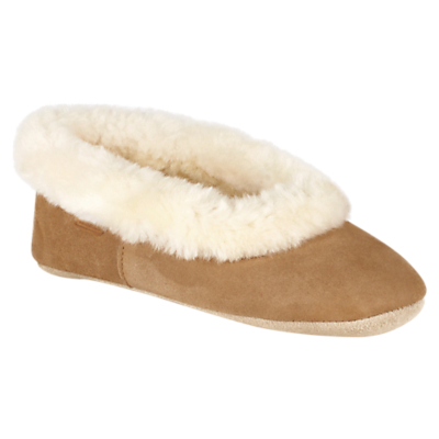 Just Sheepskin Queen Ballet Slippers, Chestnut