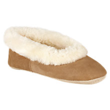 Buy Just Sheepskin Queen Ballet Slippers, Chestnut Online at johnlewis.com