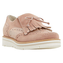 Buy Dune Gravitie Fringed Loafers, Pink Online at johnlewis.com