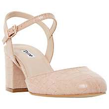 Buy Dune Cierra Block Heeled Court Shoes, Nude Online at johnlewis.com