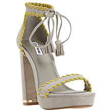 Buy Dune Maggy Whipstitch Block Heeled Sandals, Grey Online at johnlewis.com