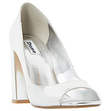 Buy Dune Dixi Peep Toe Block Heeled Sandals Online at johnlewis.com