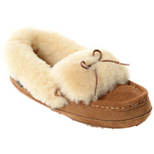 Buy Just Sheepskin Avondale Moccasin Slippers, Chestnut Online at johnlewis.com