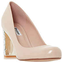 Buy Dune Bindy Jewelled Block Heeled Court Shoes Online at johnlewis.com