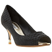 Buy Dune Debbi Peep Toe Stiletto Sandals, Black Online at johnlewis.com