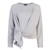 Buy French Connection Hitch Knot Twisted Jumper, Light Grey Online at johnlewis.com