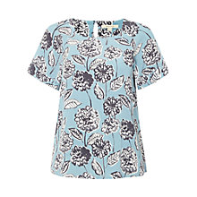 Buy White Stuff Floral Top, Aegean Blue Online at johnlewis.com