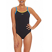 Buy Zoggs Cannon Strikeback Swimsuit, Black Online at johnlewis.com