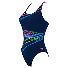 Buy Zoggs Echo Actionback Swimsuit, Navy/Multi Online at johnlewis.com