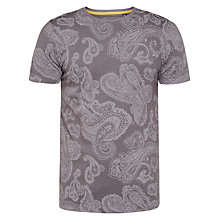 Buy Ted Baker Lotto Paisley Print Cotton T-shirt, Charcoal Online at johnlewis.com