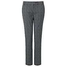 Buy Marella Berlino Jacquard Slim Trousers, Black/White Online at johnlewis.com