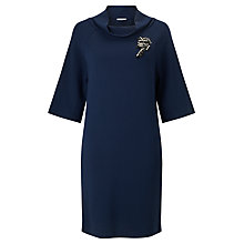 Buy Marella Efebo Brooch Detail Dress, Navy Online at johnlewis.com