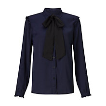 Buy Finery Levine Forever Blouse, Navy Online at johnlewis.com