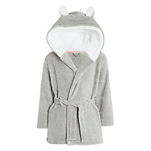 Buy John Lewis Girls' Cat Double Layer Dressing Gown, Grey Online at johnlewis.com