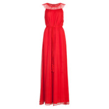 Buy French Connection Amboselli Beaded Maxi Dress, Masai Red Online at johnlewis.com
