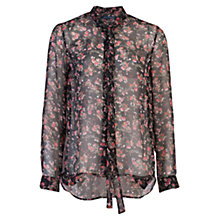 Buy French Connection Anastasia Ditzy Chiffon Shirt, Black Multi Online at johnlewis.com
