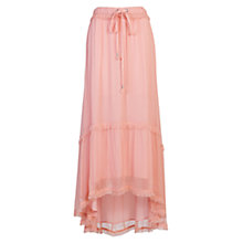 Buy French Connection Connie Chiffon Maxi Skirt, Rose Tan Online at johnlewis.com
