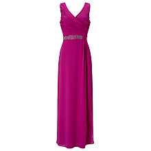 Buy Jacques Vert Side Pleat Embellished Gown Online at johnlewis.com