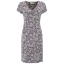 Buy White Stuff Flower Head Jersey Dress, Fossil Grey Online at johnlewis.com