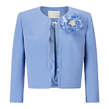 Buy Jacques Vert Scallop Edge Jacket, Light Blue Online at johnlewis.com