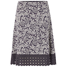 Buy White Stuff Flowerhead Skirt, Mono/Grey Online at johnlewis.com