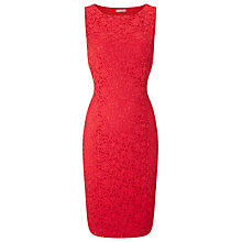 Buy Precis Petite Jasmine Lace Shift Dress, Coral Red Online at johnlewis.com