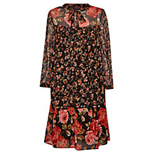 Buy French Connection Anastasia Ditzy Floral Oversized Dress, Black Online at johnlewis.com