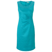 Buy Jacques Vert Petite Shimmer Shift Dress, Blue Online at johnlewis.com