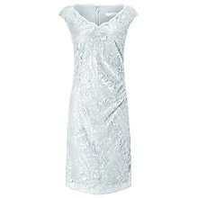 Buy Jacques Vert Embellished Lace Dress, Light Grey Online at johnlewis.com