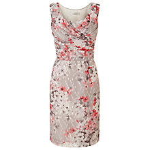 Buy Jacques Vert Petite Clipped Spot Dress, Multi Online at johnlewis.com