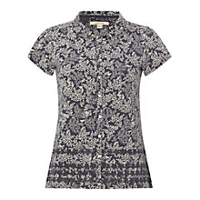 Buy White Stuff Flowerhead Jersey Shirt, Fossil Grey Online at johnlewis.com