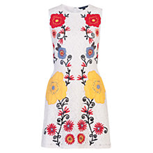 Buy French Connection Alissa Bloom Embroidered Lace Dress, Summer White Online at johnlewis.com