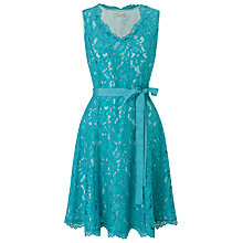 Buy Jacques Vert Petite Lace Prom Dress, Blue Online at johnlewis.com