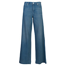Buy French Connection Cushie Vintage Wide Leg Jeans, Light Blue Online at johnlewis.com