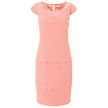 Buy Jacques Vert Petite Scallop Layer, Coral Online at johnlewis.com