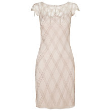Buy Jacques Vert Criss Cross Embellished Dress, Neutral Online at johnlewis.com
