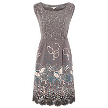 Buy White Stuff Honesty Jersey Dress, Fossil Grey Online at johnlewis.com