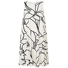 Buy Phase Eight Layla Print Dress, Ivory/Black Online at johnlewis.com