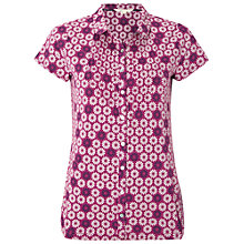 Buy White Stuff Daisy Jersey Shirt, Mexican Purple Online at johnlewis.com