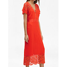 Buy French Connection Siena Lace Dress, Red Online at johnlewis.com