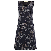 Buy White Stuff Moth Wings Embroidered Dress, Fossil Grey Online at johnlewis.com