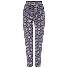 Buy Phase Eight Salma Geometric Trousers, Navy/Ivory Online at johnlewis.com