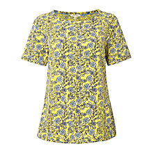 Buy White Stuff Forever More Floral Top, Pineapple Yellow Online at johnlewis.com