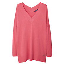 Buy Violeta by Mango V-Neck Jumper, Pink Online at johnlewis.com