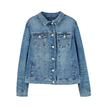 Buy Violeta by Mango Denim Jacket, Open Blue Online at johnlewis.com