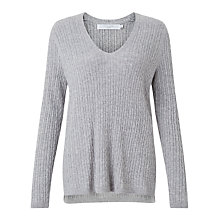 Buy John Lewis V-Neck Cable Tunic Jumper Online at johnlewis.com