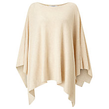 Buy John Lewis Rib Stitch Poncho, Champagne Online at johnlewis.com