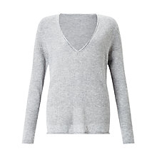 Buy John Lewis Waffle Stitch V-Neck Tunic Jumper Online at johnlewis.com