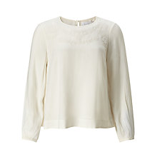 Buy Collection WEEKEND by John Lewis Embroidered Shell Top, Ivory Online at johnlewis.com