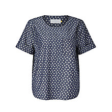 Buy Collection WEEKEND by John Lewis Ditsy Print Denim Top, Indigo Online at johnlewis.com